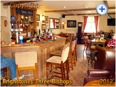 Isle of Wight : Interior of the Three Bishops at Brighstone [2012]
