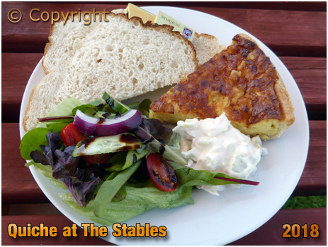 Broad Lanes : Quiche at The Stables Tea Rooms [2018]