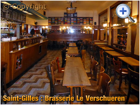 Brussel : Interior of Brasserie Le Verschueren at Sint-Gillisvoorplein [September 2016]