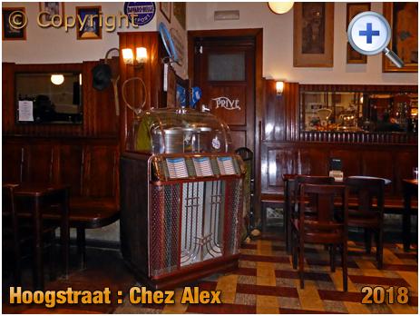 Brussel Hoogstraat : Interior of Chez Alex at Rue Haute 224 [2018]
