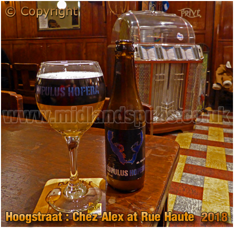 Brussel Hoogstraat : Lupulus Hopera at Chez Alex at Rue Haute 224 [2018]