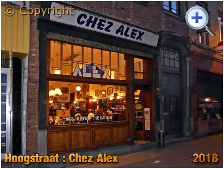 Brussel Hoogstraat : Chez Alex at Rue Haute 224 [2018]