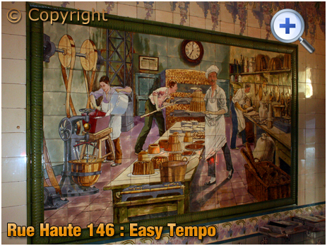 Brussel Hoogstraat : Wall Tiles of Easy Tempo at Rue Haute 146 [2018]