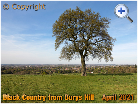 Pedmore : View of the Black Country from Burys Hill [2021]