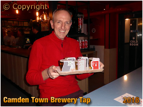 Sampling The Beers at Camden Town Brewery Tap
