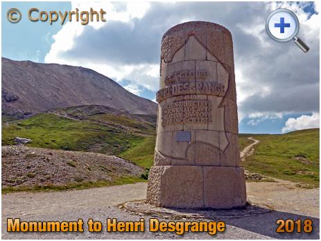 Monument to Henri Desgrange on the Col du Galibier [2018]