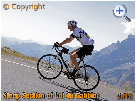 Steep Section of the Col du Galibier [2018]