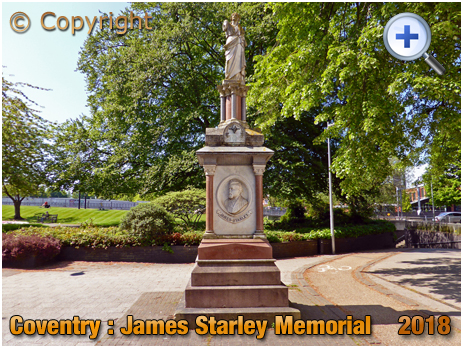 Coventry : Memorial to James Starley [2018]