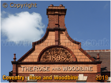 Coventry : Dutch Gable of the former Rose and Woodbine on Stoney Stanton Road [2019]