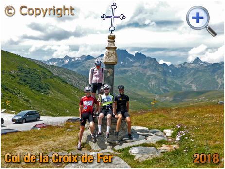 Cyclists at the Summit of the Col de la Croix de Fer [2018]