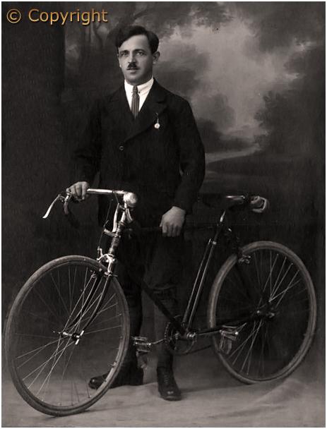 Edwardian Cyclist in Photo Studio [c.1910]