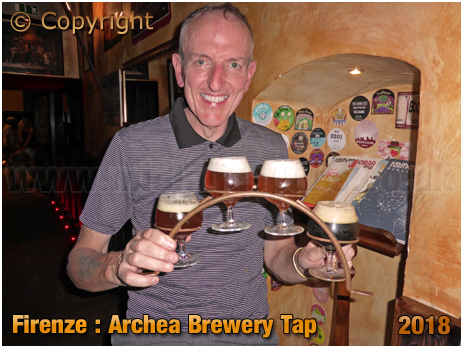 Firenze : Beer Flight at the Archea Brewery Tap [2018]