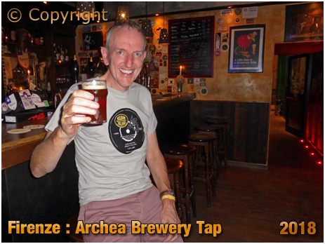 Firenze : Enjoying the Double Bock at the Archea Brewery Tap [2018]