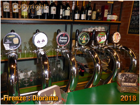 Firenze : Beer Keg Fonts at Diorama on Via Pisana [2018]