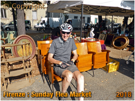 Firenze : Sunday Flea Market at Piazza Indipendenza [2018]