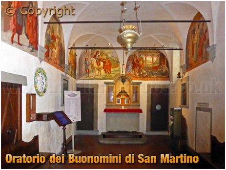 Firenze : Interior and Frescoes of the Oratorio dei Buonomini di San Martino [2018]