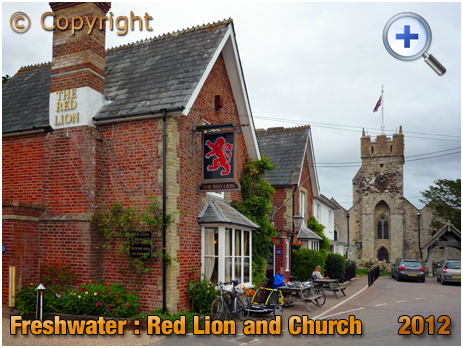 Isle of Wight : The Red Lion and Church at Freshwater [2012]