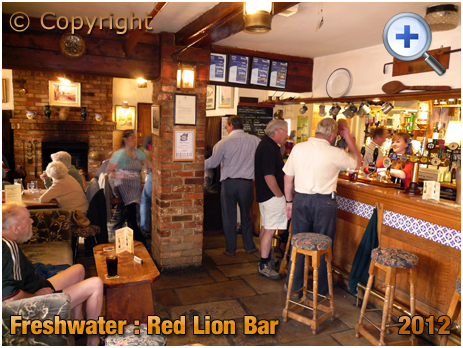 Isle of Wight : Bar of the Red Lion at Freshwater [2012]