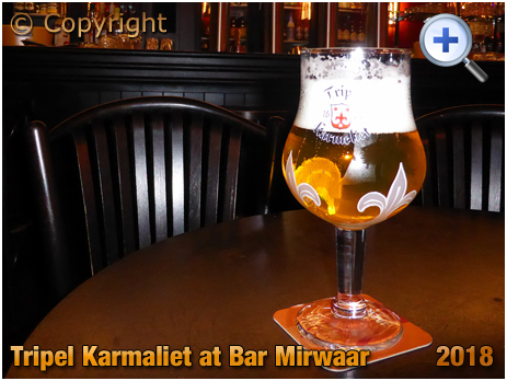 A Glass of Tripel Karmeliet at Bar Mirwaar in Gent [2018]