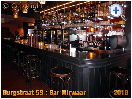 Gent : Servery of Bar Mirwaar at Burgstraat 59 [2018]