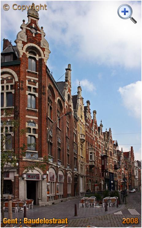 Gent : Baudelostraat viewed from Vrijdagmarkt [2008]