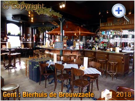 Gent : Interior of Bierhuis De Brouwzaele at Ter Platen 17 [2018]