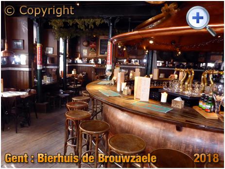 Gent : Servery of Bierhuis De Brouwzaele at Ter Platen 17 [2018]