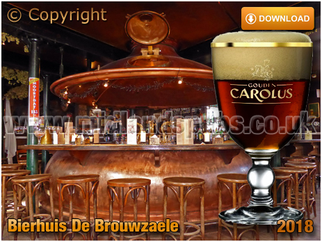Gent : Bierhuis De Brouwzaele at Ter Platen 17 with a glass of Gouden Carolus Classic [2018]