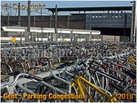 Gent : Cycle Parking at Sint-Pieters Railway Station [2018]