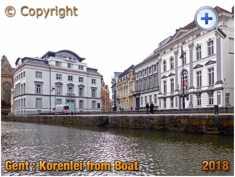 Gent : Korenlei from Boat [2018]