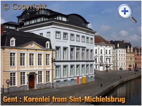 Gent : Korenlei from Sint-Michielsbrug [2008]