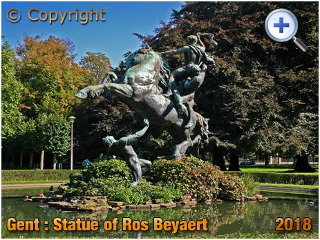 Gent : Statue of Ros Beyaert at De Smet de Naeyerpark [2018]