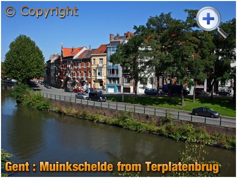 Gent : Muinkschelde from Ter Platen Brug [2018]
