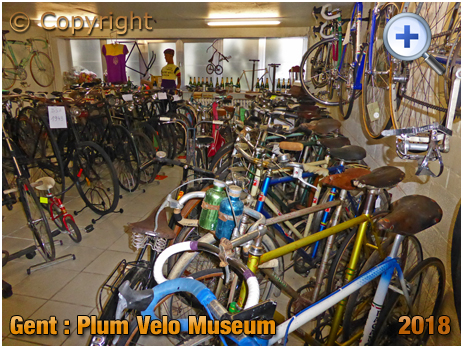 Gent : Velo Museum at Plum Bicycle Shop at Nederkouter 141 [2018]