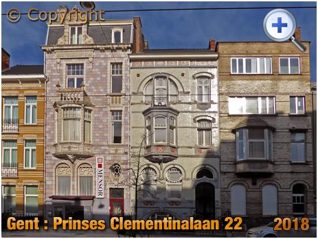 Gent : Art Nouveau Houses at Prinses Clementinalaan [2018]