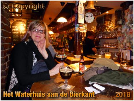 Drinking Sint-Bernardus Prior 8 and Het Anker Gouden Carolus in Het Waterhuis aan de Bierkant in Gent
