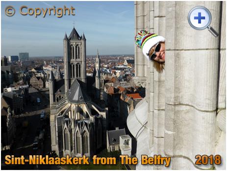 Gent : Sint-Niklaaskerk from Het Belfort [2018]