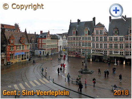 Gent : Sint-Veerleplein from the Gravensteen [2018]