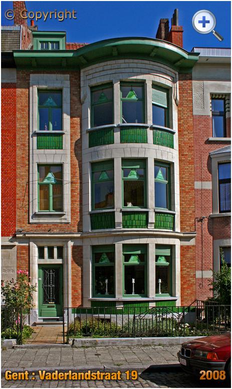 Gent : Art Deco House at Vaderlandstraat 19 [2008]
