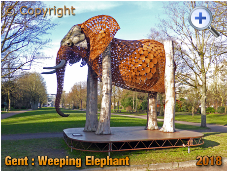 Gent : The Weeping Elephant at Koning Albertpark [2018]