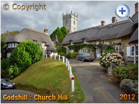 Isle of Wight : Church Hill at Godshill [2012]