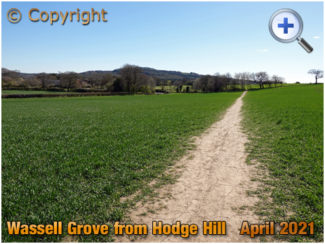 Hodge Hill : View towards Wassell Grove and Clent [2021]