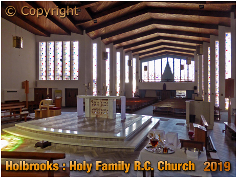 Coventry : Interior of Holy Family Roman Catholic Church at Holbrooks [2019]
