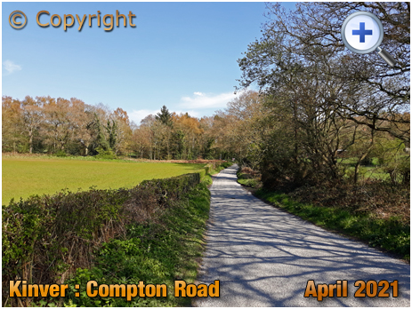 Kinver : Compton Road with Redcliff Covert [2021]