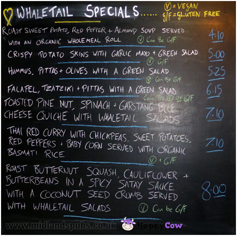 Lancaster : Specials Board at The Whale Tail in Penny Street [2017]