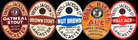 Beer Labels by Yates & Jackson of Lancaster