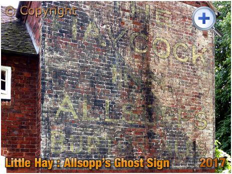 Little Hay : Allsopp's Ghost Sign on former Haycock Inn [2017]