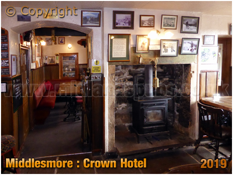 Middlesmore : Interior of the Crown Hotel [September 2019]