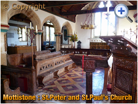 Isle of Wight : Interior of St. Peter and St. Paul's Church at Mottistone [2012]