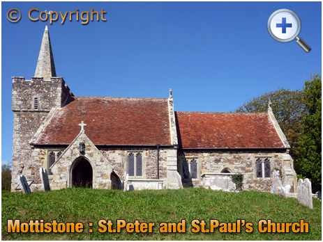 Isle of Wight : St. Peter and St. Paul's Church at Mottistone [2012]